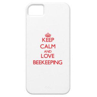 Guarde la calma y ame la apicultura iPhone 5 Case-Mate funda