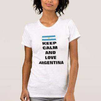 guarde la calma y ame la Argentina Camisetas