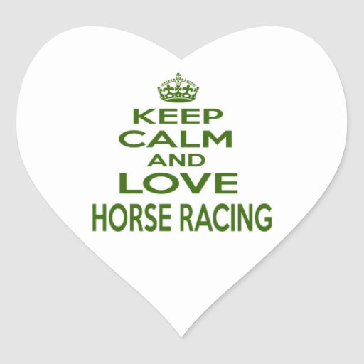 Guarde la calma y ame la carrera de caballos etiquetas