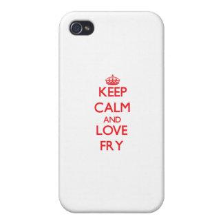 Guarde la calma y ame la fritada iPhone 4 cárcasa