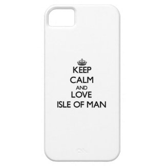Guarde la calma y ame la isla del hombre iPhone 5 cárcasa