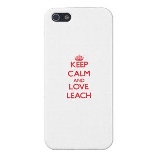 Guarde la calma y ame la lixiviación iPhone 5 cobertura