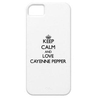 Guarde la calma y ame la pimienta de cayena iPhone 5 Case-Mate cárcasas
