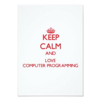 Guarde la calma y ame la programación informática anuncio
