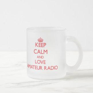 Guarde la calma y ame la radio aficionada tazas