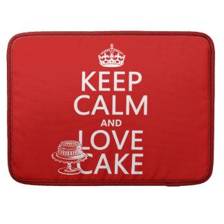 Guarde la calma y ame la torta (los colores del pe fundas macbook pro