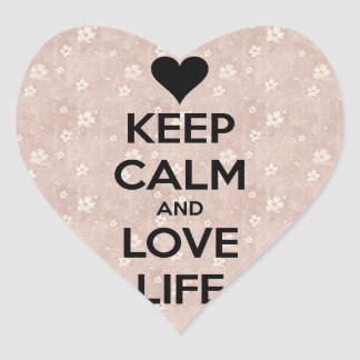 Guarde la calma y ame la vida - pegatinas pegatina corazon