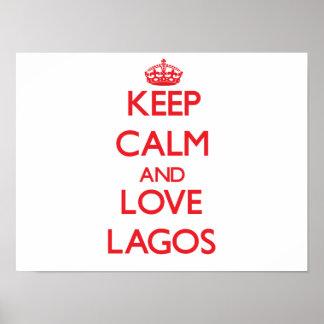 Guarde la calma y ame Lagos Póster