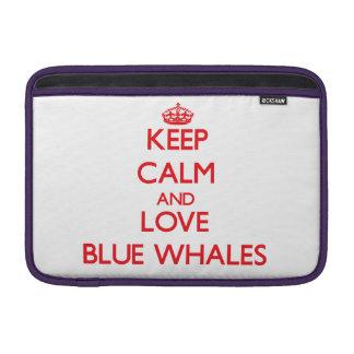 Guarde la calma y ame las ballenas azules funda macbook air