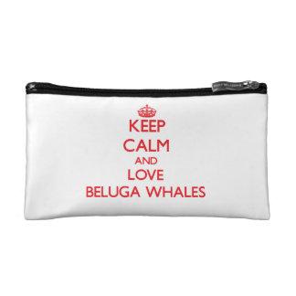 Guarde la calma y ame las ballenas de la beluga