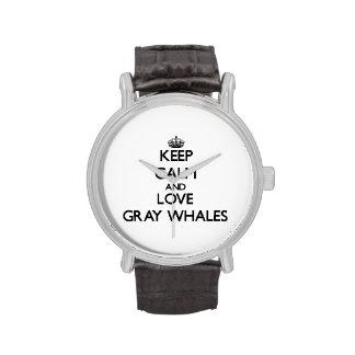 Guarde la calma y ame las ballenas grises