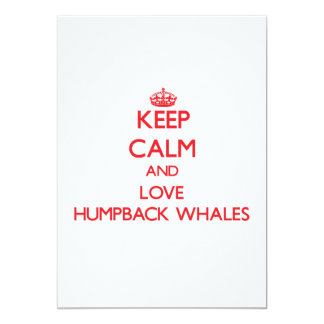 Guarde la calma y ame las ballenas jorobadas comunicado personal