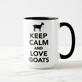 Guarde la calma y ame las cabras