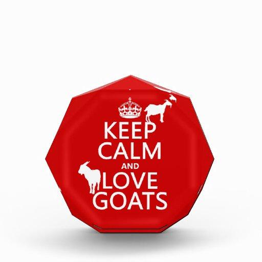 Guarde la calma y ame las cabras (cualquier color