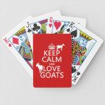 Guarde la calma y ame las cabras (cualquier color  baraja de cartas