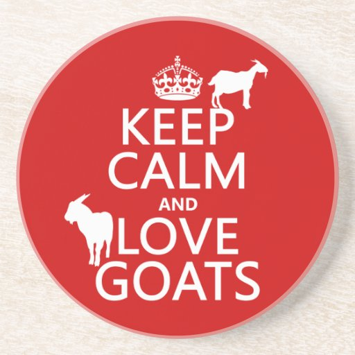 Guarde la calma y ame las cabras (cualquier color  posavasos manualidades