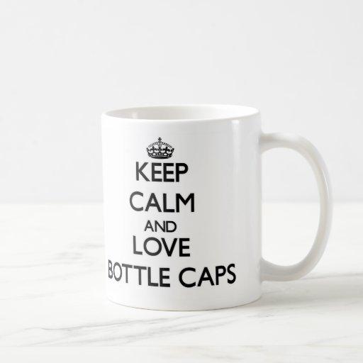 Guarde la calma y ame las cápsulas taza básica blanca