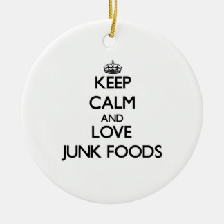 Guarde la calma y ame las comidas de desperdicios ornato