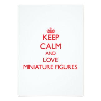 Guarde la calma y ame las figuras miniatura anuncio personalizado