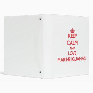 Guarde la calma y ame las iguanas marinas