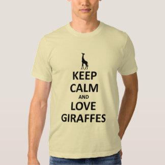 Guarde la calma y ame las jirafas poleras