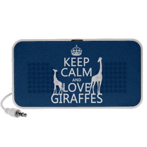 Guarde la calma y ame las jirafas - todos los colo iPhone altavoces