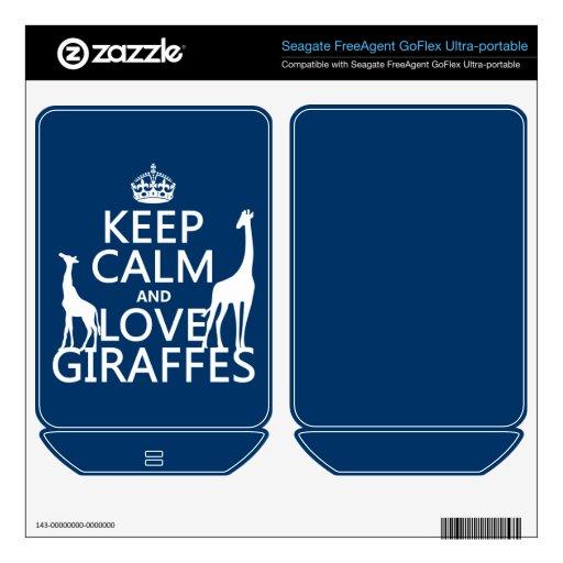 Guarde la calma y ame las jirafas - todos los colo FreeAgent GoFlex skins