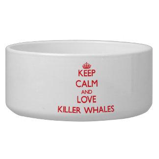 Guarde la calma y ame las orcas boles para gatos