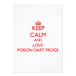 Guarde la calma y ame las ranas del dardo del vene comunicado personalizado