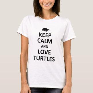 Guarde la calma y ame las tortugas playera