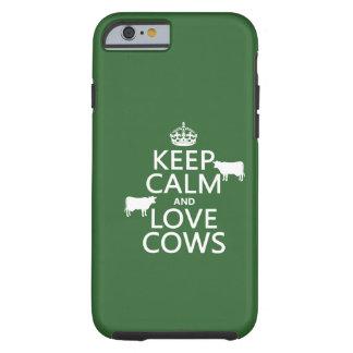 Guarde la calma y ame las vacas todos los