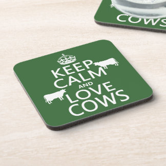 Guarde la calma y ame las vacas todos los colores posavasos