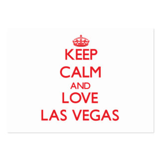 Guarde la calma y ame Las Vegas Tarjetas De Visita Grandes