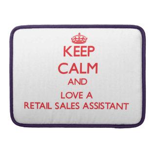 Guarde la calma y ame las ventas al por menor auxi funda para macbooks