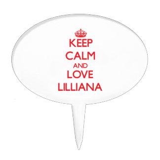 Guarde la calma y ame Lilliana Palillos De Tarta