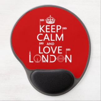 Guarde la calma y ame Londres (cualquier color de Alfombrillas De Raton Con Gel
