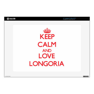 Guarde la calma y ame Longoria Calcomanía Para 38,1cm Portátil
