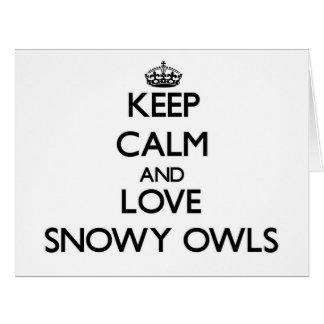 Guarde la calma y ame los búhos Nevado