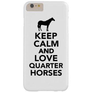 Guarde la calma y ame los caballos cuartos funda para iPhone 6 plus barely there