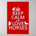 Guarde la calma y ame los caballos - todos los col posters