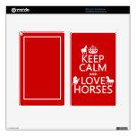 Guarde la calma y ame los caballos - todos los col kindle fire skins