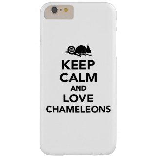 Guarde la calma y ame los camaleones funda de iPhone 6 plus barely there