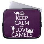 Guarde la calma y ame los camellos (todos los colo mangas portátiles
