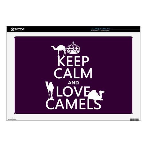 Guarde la calma y ame los camellos (todos los colo portátil 43,2cm skin