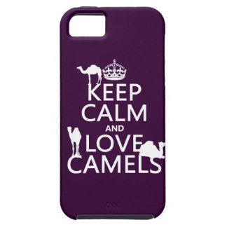 Guarde la calma y ame los camellos (todos los iPhone 5 carcasa