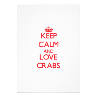Guarde la calma y ame los cangrejos comunicado