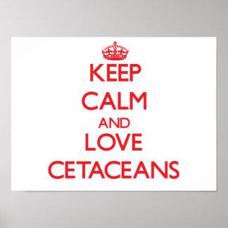 Guarde la calma y ame los cetáceos posters