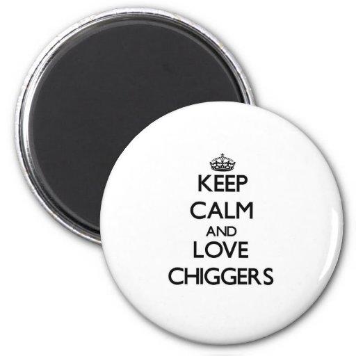 Guarde la calma y ame los Chiggers Iman De Nevera