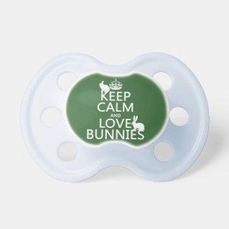 Guarde la calma y ame los conejitos - todos los co chupetes