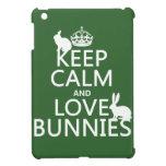 Guarde la calma y ame los conejitos - todos los co iPad mini protector